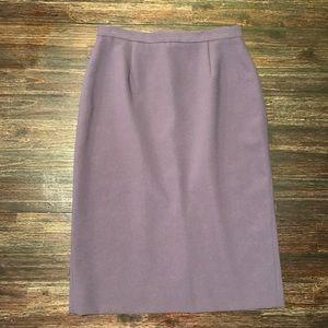 Soft Lavender Pencil Skirt